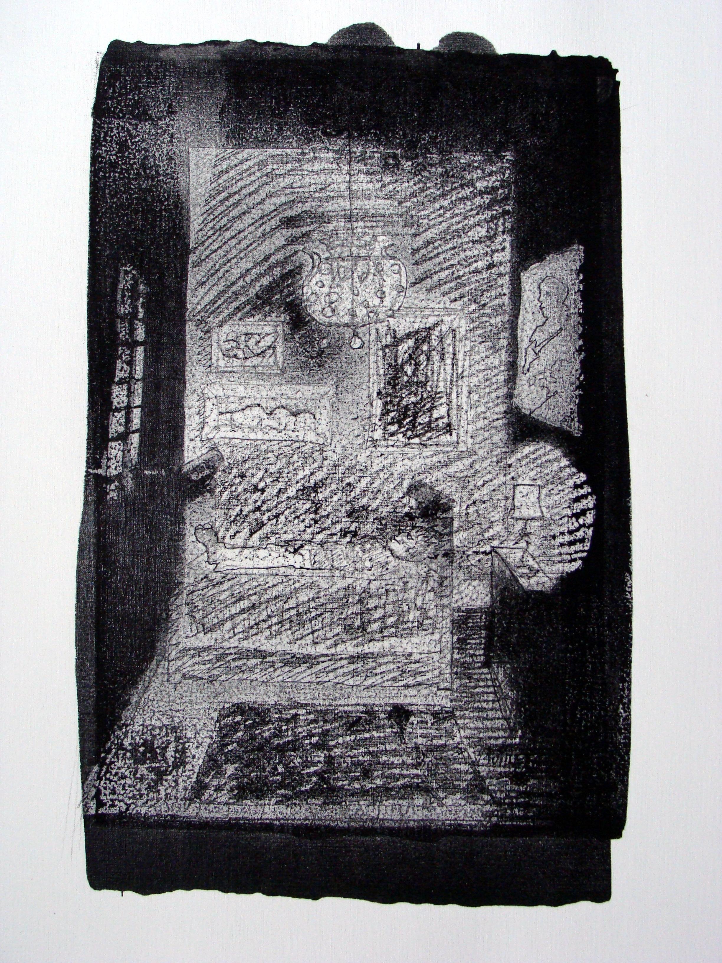 Glandouille 2013 encre de Chine sur papier  70 x 50 cm